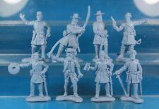 Plastic Toy Soldiers American Civil War Confederate General Staff 1/32 54 mm
