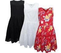 Next Size 6-18 Petite Regular Tall Cotton Lined Boho Tiered Summer Dress