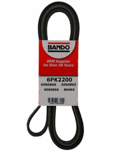 BANDO 6PK2200 Serpentine Belt-Rib Ace Precision Engineered V-Ribbed Belt