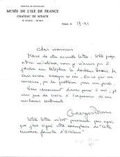 Lettre manuscrite et signée de Georges POISSON -1977 - Historien -