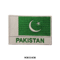 PAKISTAN National Flag Embroidered Patch Iron on Sew On Badge For Clothes etc