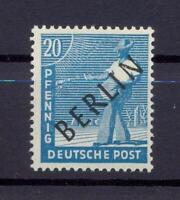 Berlin 8 IV Schwarzaufdruck 20 Pfg. ** Aufdruckfehler Sprung im R geprüft (ks74)