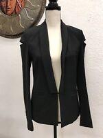 Divided H&M Women's Black Single Button Long Sleeve Blazer Jacket Size 4 NY LA