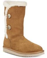Koolaburra by UGG Women's Kinslei Tall Suede & Faux Fur Boots Chestnut Size 9
