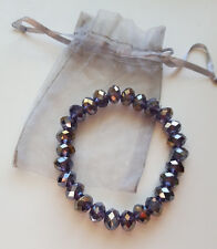 8 inch Stretch Crystal Bracelet with gift bag