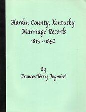 Hardin County, Kentucky Marriage Records 1813-1850