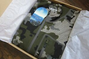 Kuiu Hunting Camo Pro Merino Ultra Wool 200 Zip-T Sweatshirt  XL - Verde 2.0