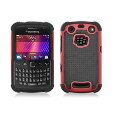 Red and Black Hybrid Hard Case Cover for Blackberry Curve 9350 / 9360 / 9370