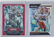 Emmitt Smith Prizm refractor card lot / 2015 Red / 2019 Silver / Cowboys