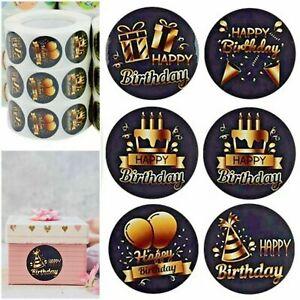 Happy Birthday Present Thank You Labels Stickers Gift Craft Box Love Sticker