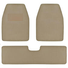SUV Van Car Floor Mats in Medium Beige - Quality Extra Carpet Rug 3pc w/ Liner