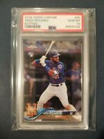 2018 Topps Chrome #60 AMED ROSARIO RC Mets Rookie PSA 10 Gem Mint