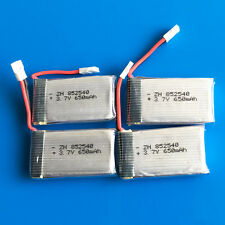 4x 650mAh 25C 3.7V Lipo Battery 852540 For Syma X5C X5 RC Quadcopter Helicopters