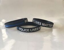 Thin Blue Line Bracelet Police LIVES MATTER Police Support Wristband Cop