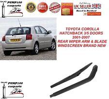 TOYOTA COROLLA HATCHBACK IX 3/5 DOOR 2001-2007 REAR WIPER ARM & BLADE WINDSCREEN