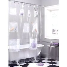 Maytex Mesh Pocket Shower Curtain Metal Grommets Organize Toys Personal Care A