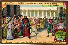 6 Cards chromo litho c1906 Music Opera Samson and Delilah Saint SAENS Bible