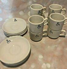 Vintage Club Med Resort demitasse cups saucers Set of 8 Grindley Duraline Dudson