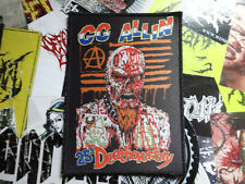 GG Allin XL Patch Anal Cunt Mentors Meat Shits