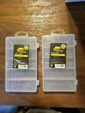 Lot of 2 Plano 3400 Stowaway Utility Boxes Fishing lures Tackle Flys Bait