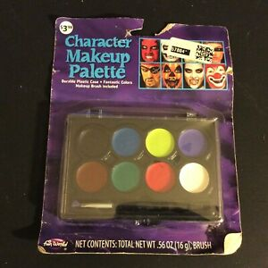 Character Makeup Palette Halloween Costume Multi Color Face Makeup Fun World