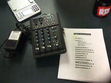 Samson Mixpad 4 M4 Portable 4 Channel Audio Mixer w/ Power Supply Battery Ac/Dc