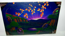 RETIRED HALLOWEEN LED LIGHTED CANVAS PICTURE BY KURT S. ADLER