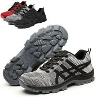 Steel Toe Work Shoes for Men Safety Shoes Breathable Industrial Construction Sho