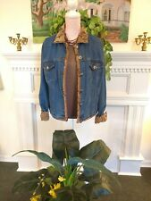 Taska Polizzi--T.P. Saddleblanket & Co.denim trucker's brocade L trimmed jacket