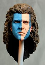 1:6 Custom Head Mel Gibson as William Wallace w/ blue face paint from Braveheart
