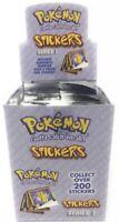 PRISTINE NEW 1999 Pokemon Artbox Stickers Full Booster Box 30 Packs 300 Stickers