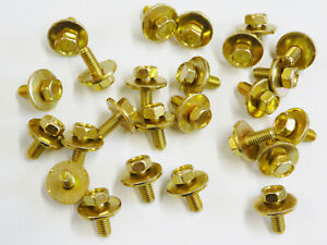 Honda Body Bolts- M6-1.0 x 16mm Long- 10mm Hex- 19mm Washer- 20 bolts