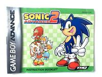 Sonic Advance 2 Instruction Manual Nintendo Gameboy Advance GBA Game Boy Booklet