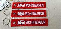 Wohnwagen Caravan Homemobil 3er SET Schlüsselanhänger  Aircraft YakAir