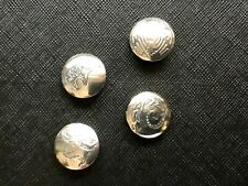 4- Vtg Sterling Silver Navajo Stamped Concho Button Covers, bear,eagle,lizard,+