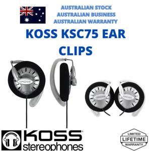 Koss KSC75 Titanium Diaphragm Clip over Fitness Running Street Headphones