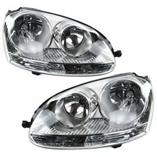 Volkswagen Golf Mk5 2004-2009 Headlights Headlamps 1 Pair O/S And N/S