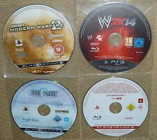 JOB LOT 4 SONY PS3 GAMES Little Big Planet Promo WWE 2K14 Lost CoD MW2 Call Duty