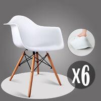 6 Weiß Esszimmerstuhl Sessel mit Retro PP gepolstert Esszimmer Bürostühle Küchen