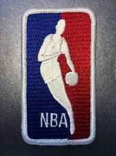 "NBA League Logo National Basketball Association Collar Patch Large 3.5"" X 2"""