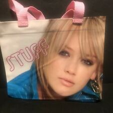 Hilary Duff Stuff Plastic Vinyl Picture Tote Small Purse Makeup Bag Fan Souvenir