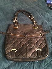 b makowsky black leather handbag