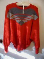 Retro vintage 1990s SLADE Knitwear Australian Red Wool Atomic Jumper size 16
