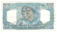 Vintage Banknote France 1948 1000 Francs VF/XF Pick 130b US Seller
