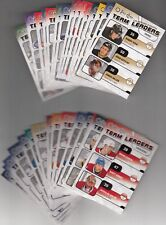 OPC O-Pee-Chee 2010-11 Complete Team Leader Inserts Set (TL1-30)