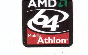 AMD Athlon 64 mobile Case Sticker Aufkleber Ba