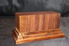 1.75x4x2.5 Hand Made Wooden base for figures/miniatures - Solid walnut wood