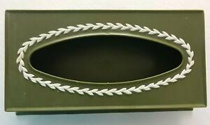 Vintage Fesco Avocado Green Tissue Box Holder Cover