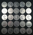France Coin Lot - 25 One Franc Coins - PURE NICKEL!! Free Shipping!!!!