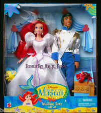 "Ariel Doll Prince Eric Wedding Party Gift Set Bride Little Mermaid Disney G """